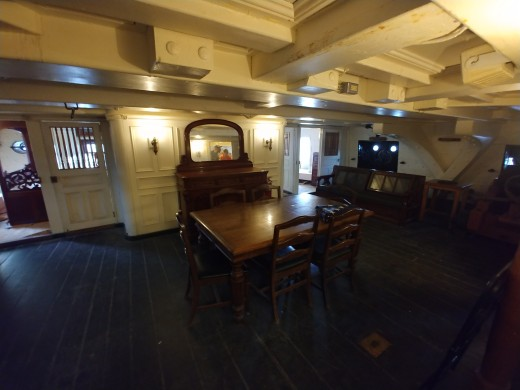 Here is a glimpse of the interior of the Captain's quarters.