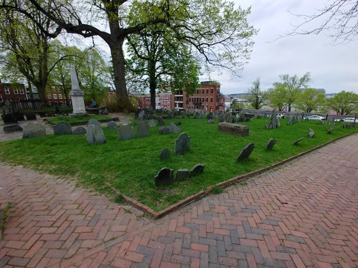 A Small Section of Copp's Hill Burying Ground