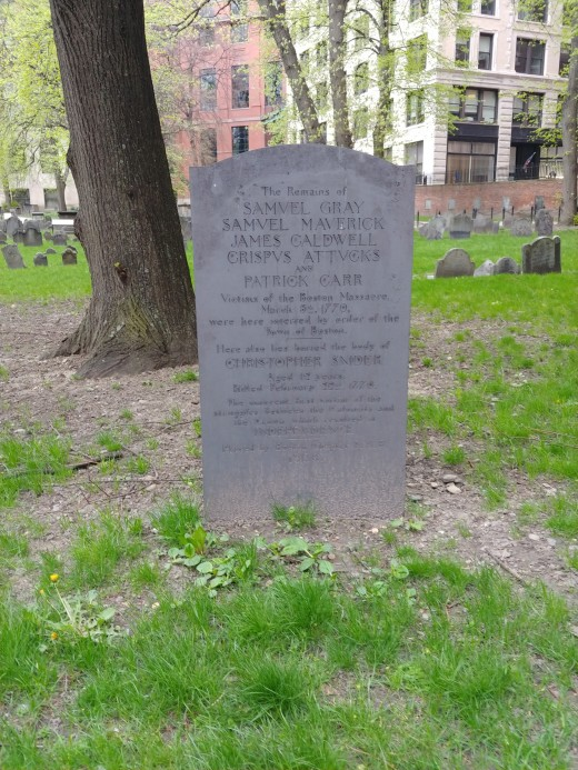Marker for the Victims of the Boston Massacre