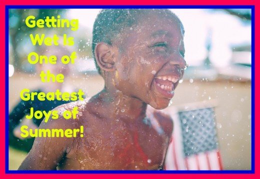Running through the sprinklers, tossing wet sponges, using spray bottles, smashing a water piñata, and washing the car are all sensory experiences that bring smiles and laughter.