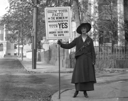 Suffragette.  When feminism still fought to achieve important goals.