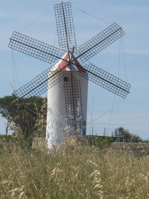 Recently restored windmill