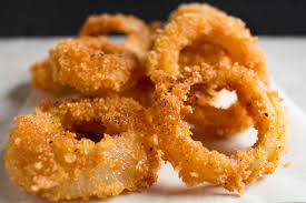 Onion rings prepared at home!