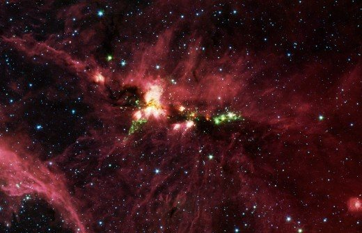 The constellation Cygnus is a stellar nursery called DR21, which is giving birth to some of the most massive stars in our galaxy.
