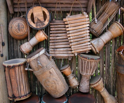 Some American folk music comes from traditional African musical styles.