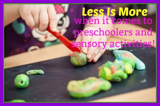 Sensory activities for preschoolers should be kept simple, light, and fun. Making a batch of play-dough and using it throughout the month is a fantastic way to stimulate creativity and build fine motor skills.