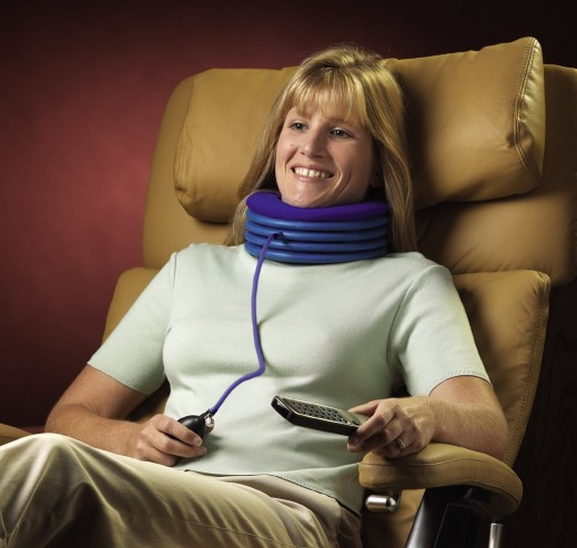 Here is another traction device. This one you can use comfortably seated.