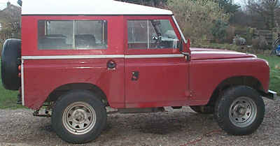 A Land Rover 88 inch model. Mine was finished in Land Rover Masai red. Took her north a few times, over the North York Moors and along the coast  Sold her a year or so later. A few faults it would have taken more money than I had to fix