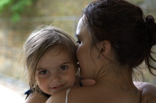 If you became the stepmom to a child at a very young age, it may have been easier to cuddle with them and shower them with affection.