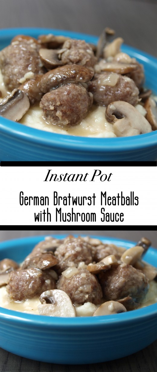 Instant Pot Recipe for German Bratwurst Meatballs With