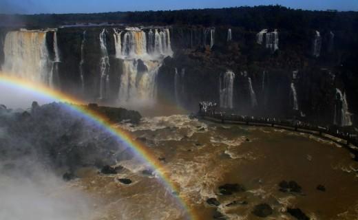 Moonbow in Iguacu Falls
