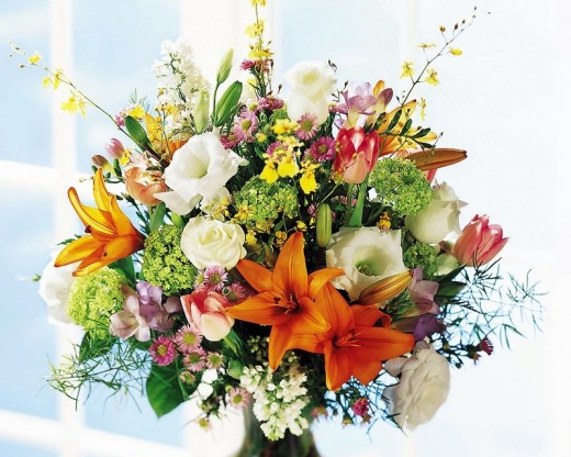 A cut flower bouquet can last a long time if treated right.