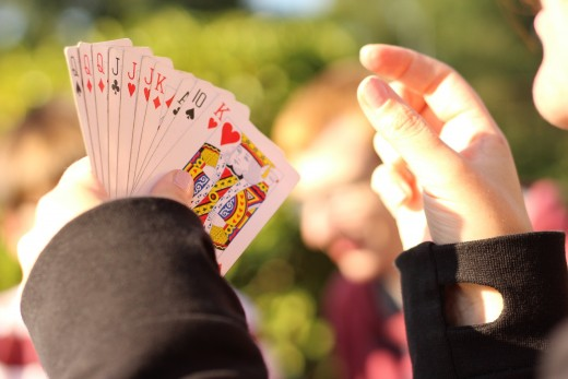 Playing cards can be fun, not serious.