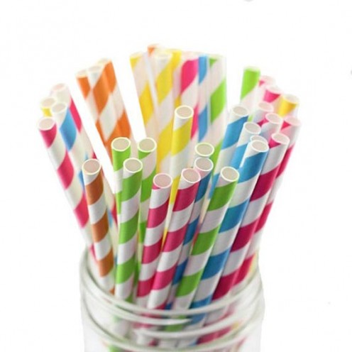 These are paper straws.