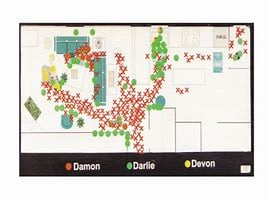 Blood map of Routier home