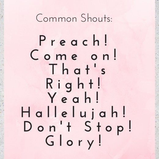 Common Charismatic Shouts During Church Services