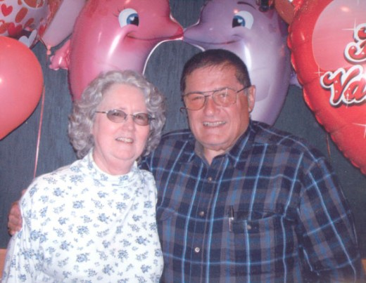 Barb with Her Husband of over 54 Years