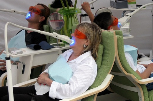 Group Teeth Whitening at The Dentist
