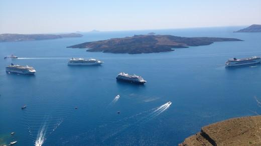 Cruise Terminal in Fira, Santorini
