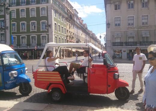 Tuktuk in Lisboa, Portugal