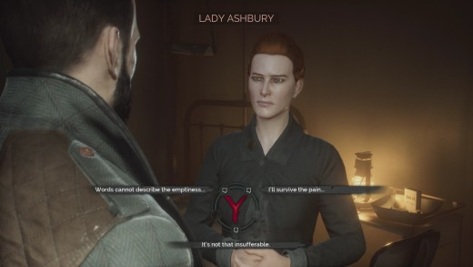 Some dialogue options are available