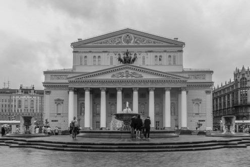 The Bolshoi Theatre. Home to world famous opera and ballet performances