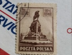Historic Stamps from Polish Government in Exile Period 1945 Poczta Polska
