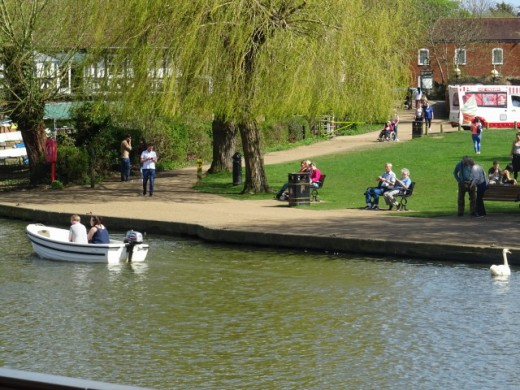 The canalised river at Stratford- Upon- Avon
