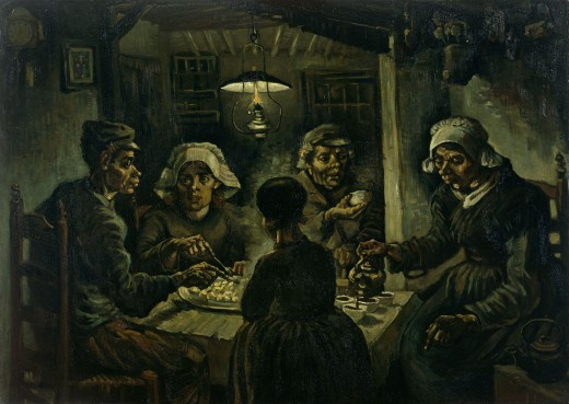 """The Potato Eaters""  The author did not like this painting."