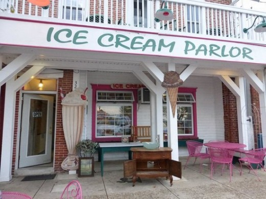 A typical Ice Cream Parlor
