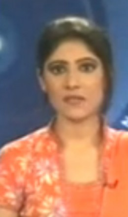 Dharti Tv news caster