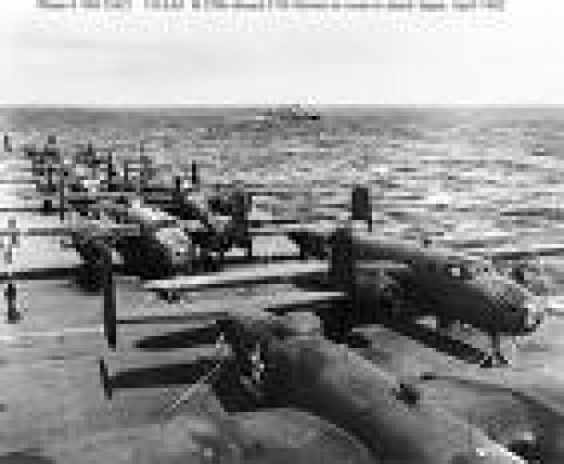 B-25s Were Packed Onto The USS Hornet For Their Trip To Japan