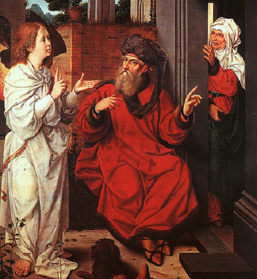 """Abraham, Sarah, and the Angel"" by Jan Provoost"