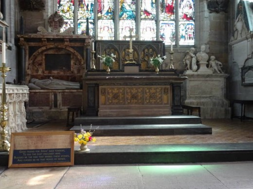 The altar in Holy Trinity Church, Stratford-upon- Avon