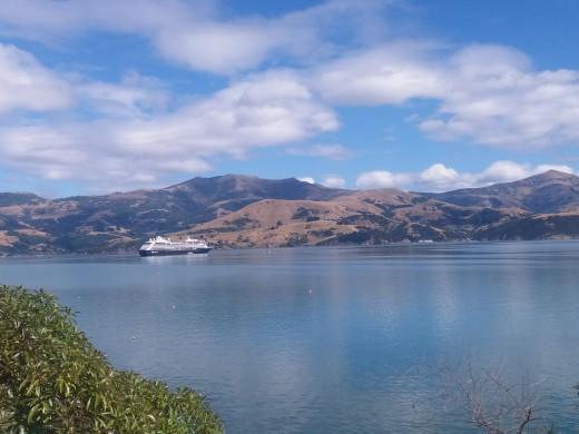 Azamara Club Cruises in Akaroa, New Zealand