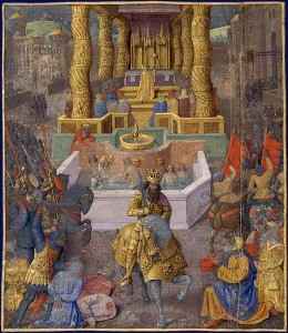 A 15th century painting showing Herod's entry into Jerusalem