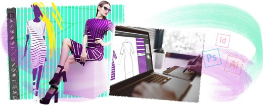 Clothing design software interface.