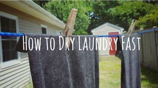 How to dry clothes quickly