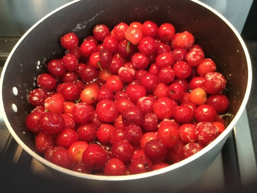 Stewing some cherries 2017