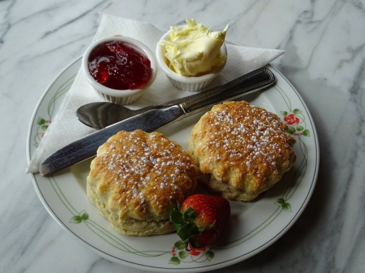 Strawberries, cream, and scones. The taste of a perfect English summer.