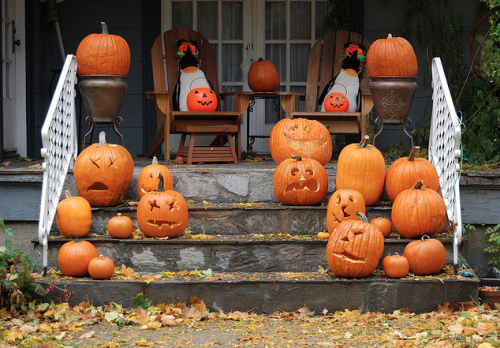 Pumpkins on a Porch