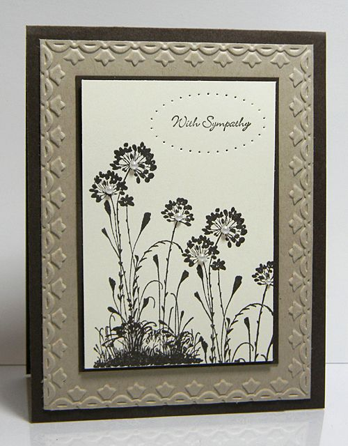Embossing edges adds a lot of interest to your greeting cards