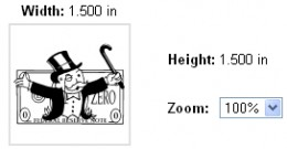 custom stamp sizing dimensions width 1.5 inches