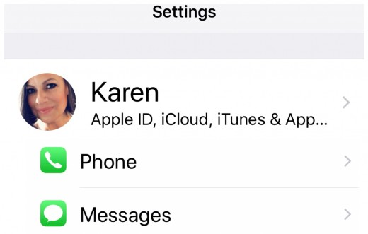 Settings, Messages, Apple id & more . . .