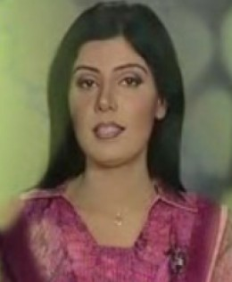 Sindh tv News caster Nida Abro