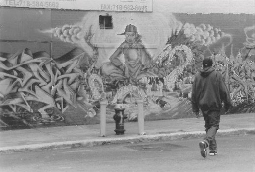 My B&W photography.  Little know fact, the Bronx is home to some of the best graffiti art in the world.