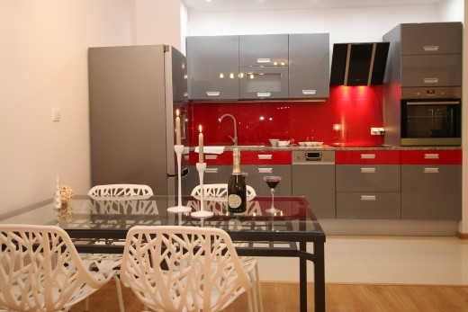 One-Wall Type Kitchen Design
