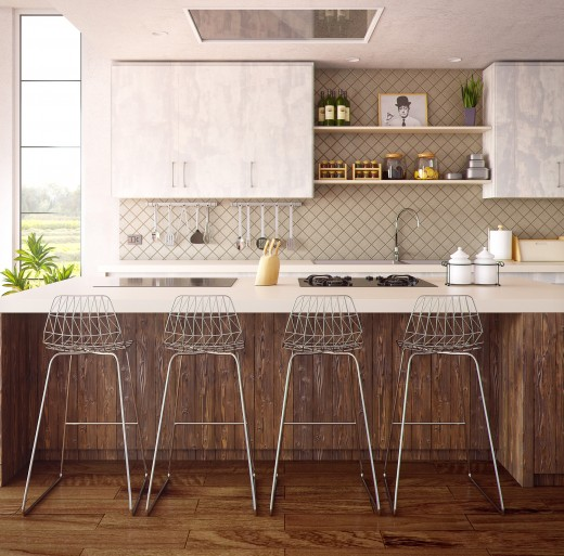 One-Wall Type Kitchen Design