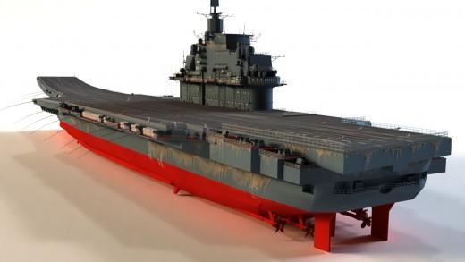Model of Admiral Kuznetsov.