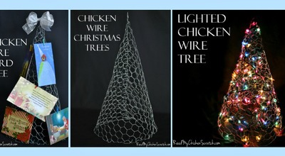 christmas trees - Christmas Decorations With Chicken Wire